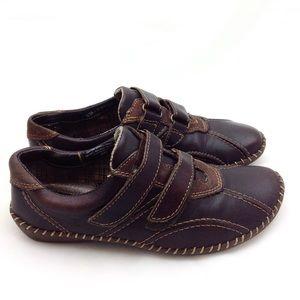 Born Brown Leather Sneakers 6- N443